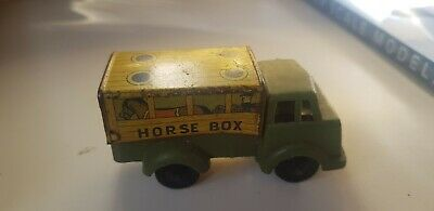 Vintage Horse Box Plastic Model Metal Base And Lid Lorry • 5£