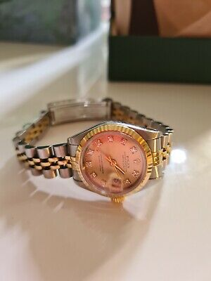 Ladies Rolex Datejust In Steel & 18ct Gold With Factory Champagne Diamond Dial. • 2,550£