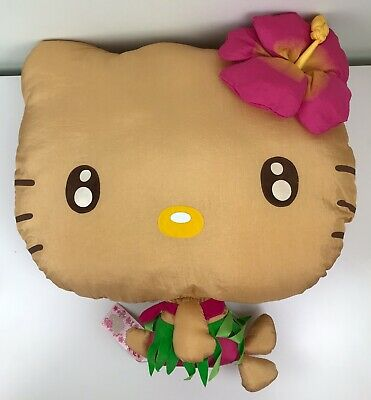 RARE Sanrio Hello Kitty HUGE XXL Hawaiian Suntan Big Head Plush Doll~BNWT~2003 • 1.99£