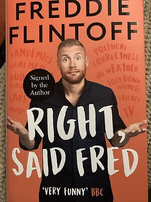 Signed Book - Right, Said Fred By Andrew Flintoff First Edition 1st Print • 17.90£