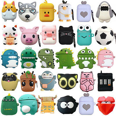 AU6.76 • Buy For Apple AirPods Case 2/1 Silicone Protector Animals Full Case Cover + Keychain