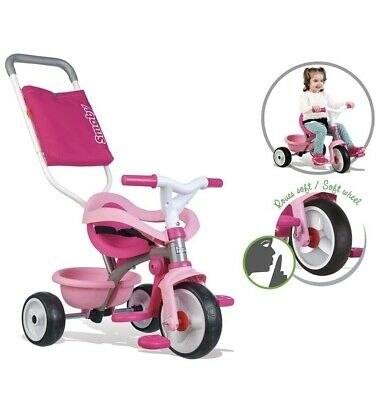 Smoby Pink Comfort Trike With Parent Handle | Stylish, Multifunctional Design • 79.99£
