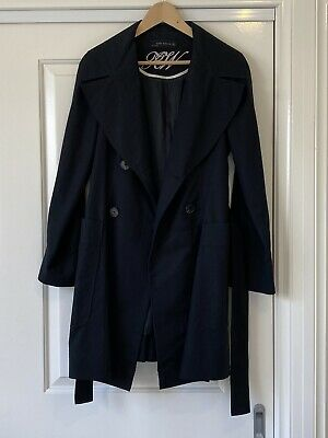 AU45 • Buy Zara Women's Black Trench Jacket Coat Size Medium 8 - 10