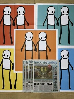 STIK POSTERS Set Hackney Today Newspapers Included • 450£