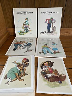 $ CDN38.20 • Buy Vintage Norman Rockwell The Four Seasons Gallery Books Set Of 4 + 2 Lithographs