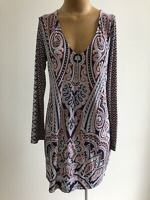 AU45 • Buy TIGERLILY Cut Away Back Paisley Floral Dress AS NEW CONDITION 14