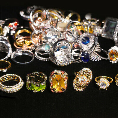 $ CDN57.18 • Buy Wholesale Jewelry Lots 100pcs Mixed Style Vintage Rings Free Shipping