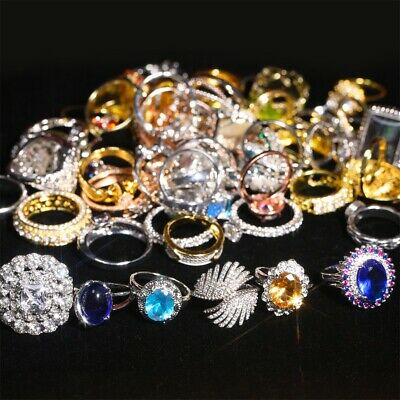 $ CDN106.20 • Buy Hot 100PCS Wholesale Lots Jewelry Mixed Style Vintage Rings Free Ship