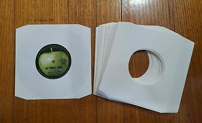 AU22 • Buy 50 X White Paper 7  Inner Vinyl Record Sleeves For Singles EP 45's Or 7  Vinyl