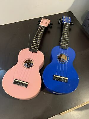 AU5 • Buy 2 X MAHALO Wooden Ukulele With Bag, Blue And Pink