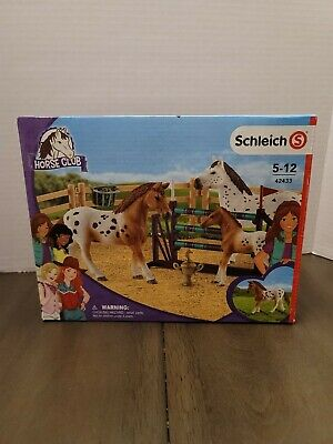 Schleich Horse Club 42433 Lisa's Tournament Training Appaloosa Horse Set NIB New • 17.67£