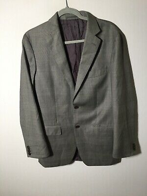 AU59.95 • Buy MJ Bale Mens Grey Suit Jacket Size 40 Wool Long Sleeve Good Condition