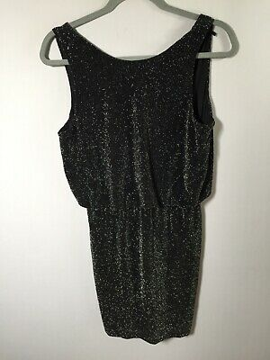AU24.95 • Buy Forever New Womens Black With Silver Sparkles Pencil Dress Size 10 Sleeveless