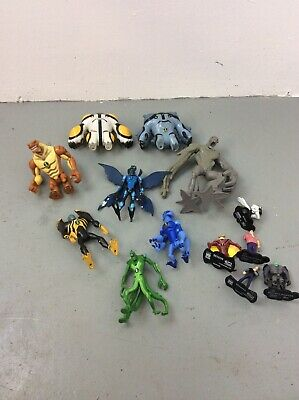 Job Lot Of Ben 10 Figures, Toys 13 Collectable Figures, Learning Props, Film • 8£