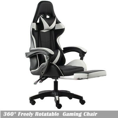 AU129 • Buy High Back Gaming Executive Office Massage Racing Computer Chair PU Leather Seat