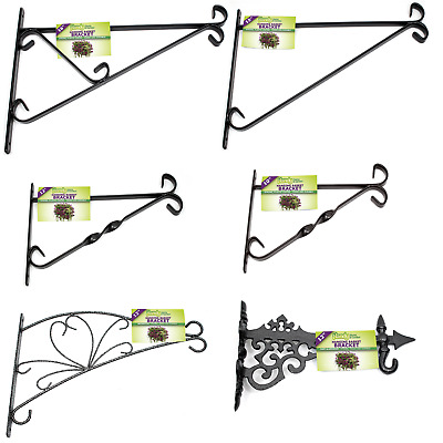 £12.99 • Buy Hanging Basket Brackets Metal - 10  12  15  Or 16  Strong Outdoor Wall Brackets
