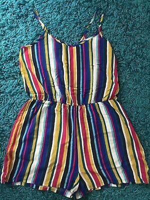 Womens Strappy Playsuit Romper Summer Papaya Size 12 • 6.99£