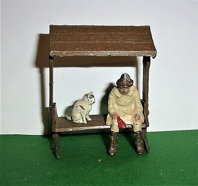 1950's JoHillCo John Hill & Co VILLAGE COVERED SEAT DROVER AND BRITAINS CAT • 44.99£