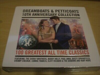 Dreamboats & Petticoats 10th Anniversary Collection CD 100 Hits • 8.99£