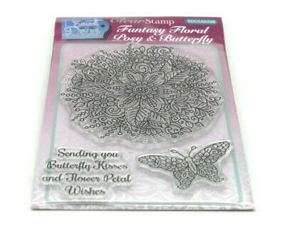 £5.95 • Buy  Sweet Dixie Fantasy Floral Posy & Butterfly Clear Stamp Set SDCSA6288