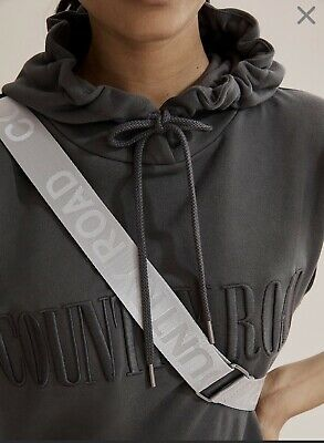 AU60 • Buy Country Road Hooded  Charcoal Sweat Sleeveless  Hoodie Jumper Sz L 14 NWT $99.95