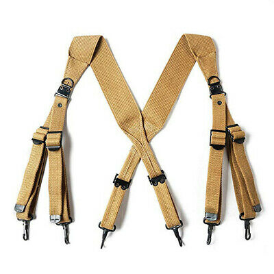 $39.99 • Buy US ARMY M1936 X-STRAP SUSPENDER COTTON STRAP AIRBORNE Strengthened Edition