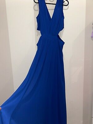AU30 • Buy ASOS Blue Cutout Detail Long Dress Size 16 Brand New With Tags Evening Formal