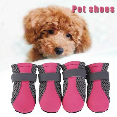 4Pcs Waterproof Casual Walk Shoes Boots For Small Large Dog S/M/L Pet New I0H5 • 4.13£