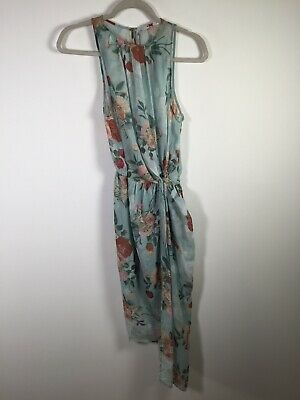 AU24.95 • Buy Sheike Womens Light Blue Sheer Floral Midi Dress Size 8 Sleeveless Good Condtn