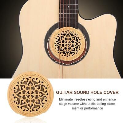 £6.40 • Buy Wood+Sponge Guitar Sound Hole Cover For 41in Acoustic Classic Guitar Accessories