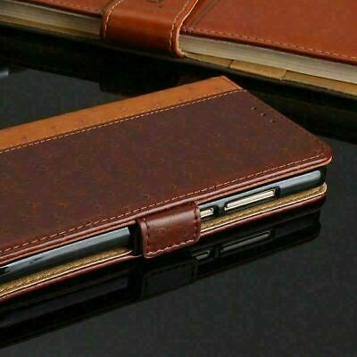 AU11.98 • Buy Leather Wallet Cover For LG V30 Luxury Flip Wallet Case Brown