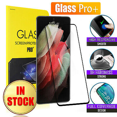 AU7.95 • Buy For Samsung Galaxy S21+ S21 S20 Ultra Plus Full Tempered Glass Screen Protector