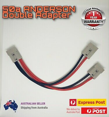 AU14.98 • Buy 50Amp Anderson Style Plug Connector Double Y Adaptor Splitter  8AWG Cable