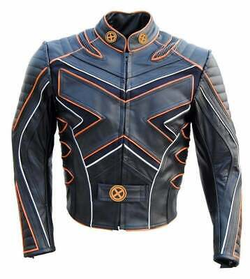 X Men Wolverine Motorcycle Cafe Racer Retro Biker Classic Movie Leather Jacket • 119.99£