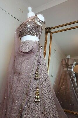 £299 • Buy Monga's Lilac Wedding/Engagement Lengha - Indian And Pakistani Outfit - RRP £495