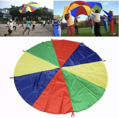 Kids Play Rainbow Parachute Outdoor Game Exercise Sport Toy 1.8 Meter UK • 8£