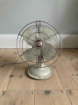 Vintage Revo Electric Metal Desk Fan. 1940's. Working Condition • 9.99£