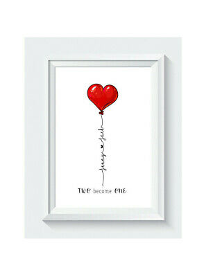 AU9.81 • Buy Personalised Valentines Day Gift For Him For Her Boyfriend Girlfriend Print ONLY