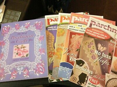 Parchment Craft Magazines (4) And New Book The Art Of Parchment Craft - J Wilson • 4.99£