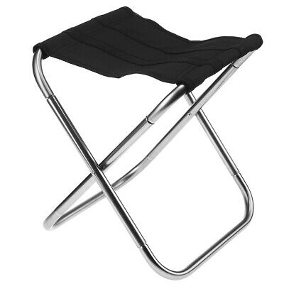 Aluminum Alloy Folding Stool Outdoor Camp Hiking Picnic Travel Seat Chair • 14.92£