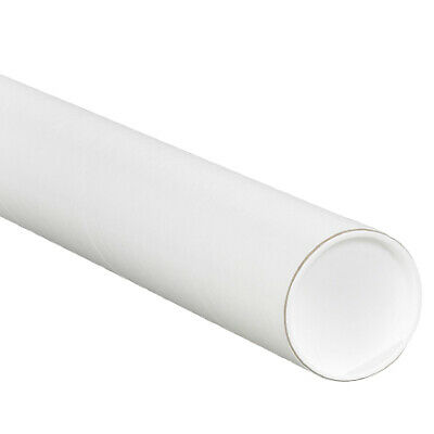 $49.95 • Buy Mailing Tubes With Caps, 3 X 15  White, (Pack Of 24)
