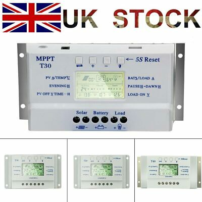 20A 30A 40A Solar Charge Controller MPPT Battery Regulator 12V/24V UK • 36.99£