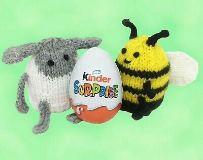 £2.40 • Buy KNITTING PATTERN 413: Easter Kinder Surprise Egg Holders. Bee And Lamb