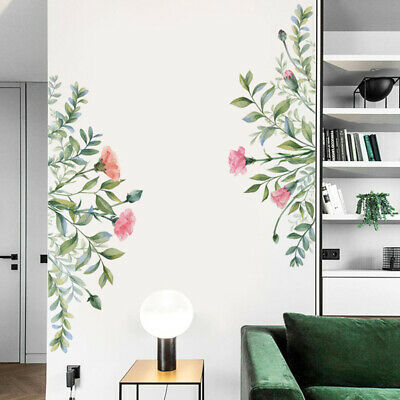 Removable Floral Wall Mural Stickers Leaf /Floral Decal Home Bedroom DIY Decor • 4.60£