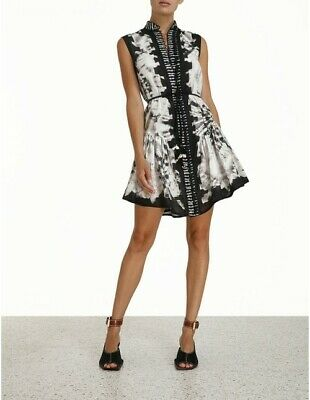 AU550 • Buy ZIMMERMAN BNWT Lulu Drop Waist Short Dress Size 0   SOLD OUT!