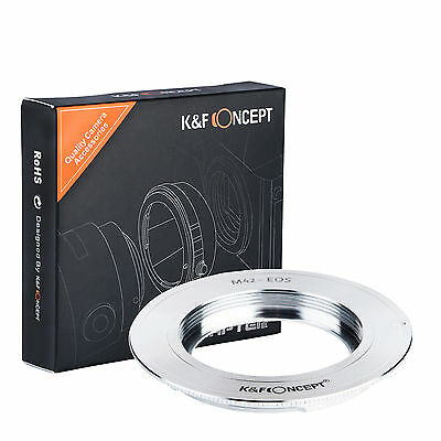 $14.39 • Buy K&F Concept Adapter For M42 42MM Screw Mount Lens To Canon EOS EF Camera 70D 5D3
