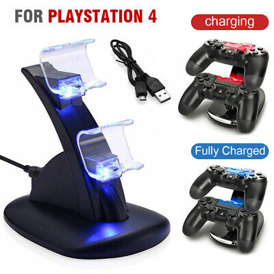 AU11.45 • Buy Dual Charger For Playstation 4 PS4 Controller Double Charging Station Dock Stand