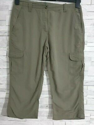 PETER STORM Outdoor Cropped Trousers Size 10-UK Khaki Green Pockets Casual  • 10.90£