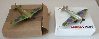 Matchbox Skybusters Spitfire SB8 & Tonka Hurricane Model Toy Planes In Boxes • 8£