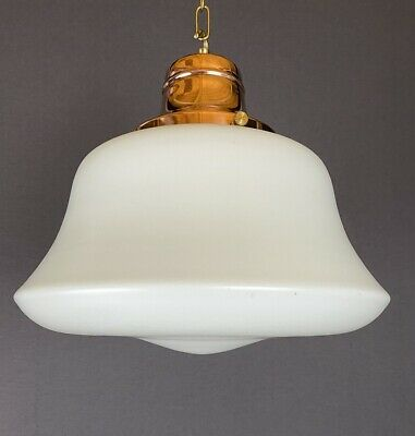 'leicester' Opaline White Satin Glass With Copper Gallery (20241) • 275£